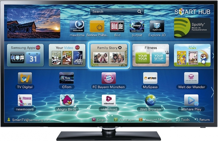 samsung 42f5370 107 cm ekran smart led tv. Black Bedroom Furniture Sets. Home Design Ideas